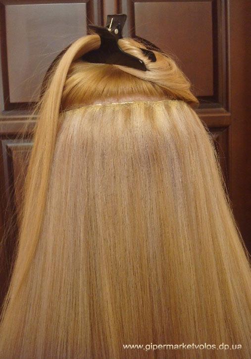 Натуральные волосы на трессах купить